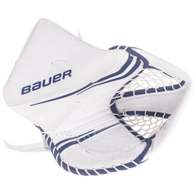 White/Blue (Bauer Vapor 2X Pro Goalie Catch Glove - Senior)