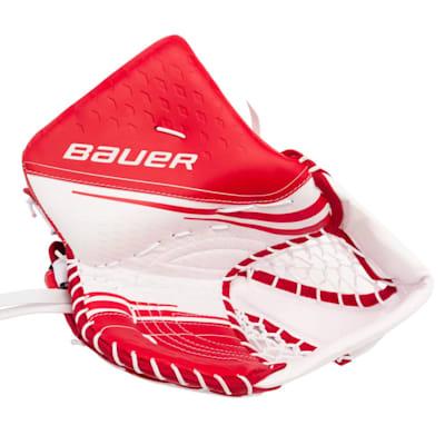 White/Red (Bauer Vapor 2X Goalie Catch Glove - Intermediate)