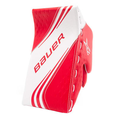 White/Red (Bauer Vapor 2X Goalie Blocker - Intermediate)