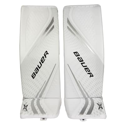 White/White (Bauer Vapor 2X Pro Goalie Leg Pads - Senior)