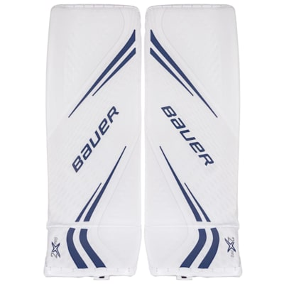 White/Blue (Bauer Vapor 2X Pro Goalie Leg Pads - Senior)