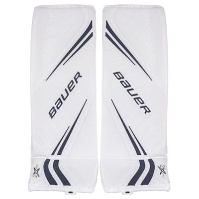 White/Navy (Bauer Vapor 2X Pro Goalie Leg Pads - Senior)