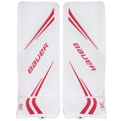 White/Red (Bauer Vapor 2X Pro Goalie Leg Pads - Senior)