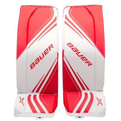 White/Red (Bauer Vapor 2x Goalie Leg Pads - Senior)