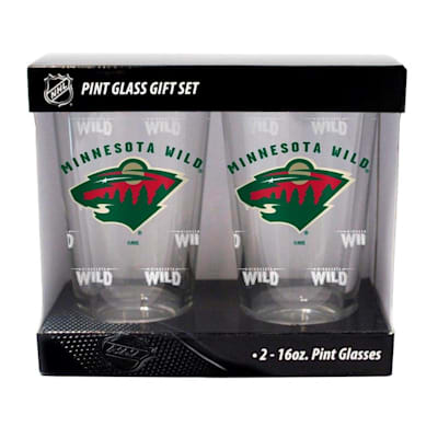 Minnesota Wild (16oz NHL Pint Glass 2-Pack - Minnesota Wild)