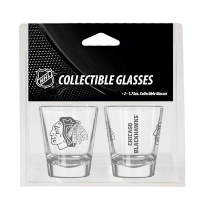 Chicago Blackhawks (2oz NHL Shot Glass 2-Pack - Chicago Blackhawks)