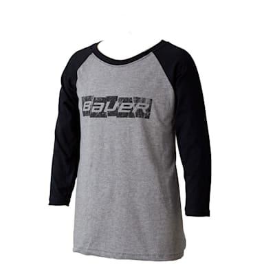 (Bauer Blocks of Ice Raglan Tee Shirt - Youth)