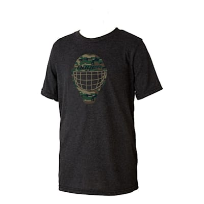(Bauer Camo Face Mask Short Sleeve Tee Shirt - Youth)