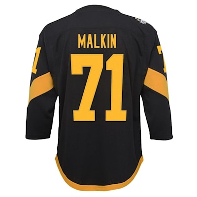 Back (Adidas Pittsburgh Penguins 2019 Stadium Series Malkin Replica Jersey - Youth)