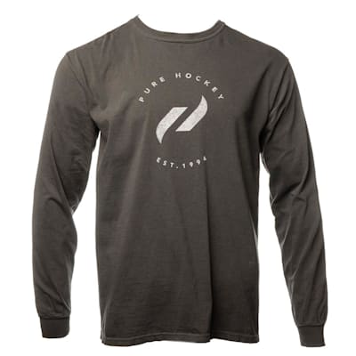 Front (Everyday Long Sleeve Tee Shirt Black - Adult)
