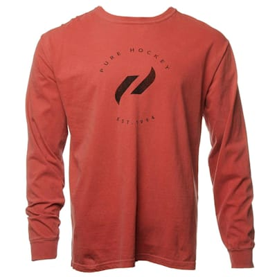 Front (Everyday Long Sleeve Tee Shirt Crimson - Adult)