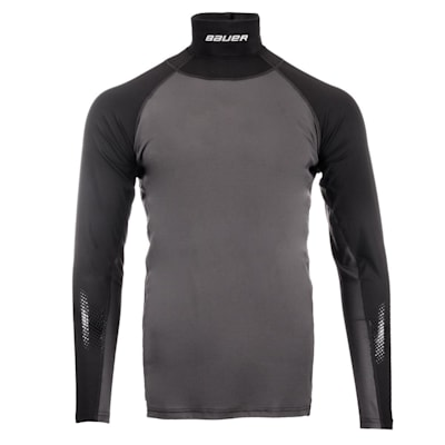 Front (Bauer S19 Long Sleeve Neck Protector Top - Adult)