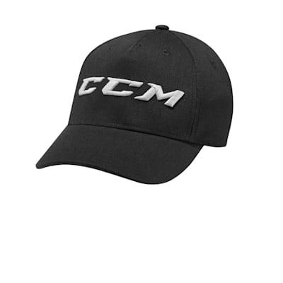Black (CCM Authenticity Denim Flex Cap - Adult)