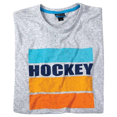 (Bauer Hockey Stripe Short Sleeve Tee Shirt - Adult)