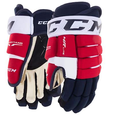 Navy/Red/White (CCM Tacks 4R Lite Hockey Gloves - Junior)