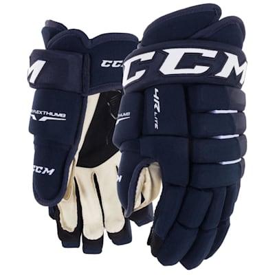 Navy (CCM Tacks 4R Lite Hockey Gloves - Junior)