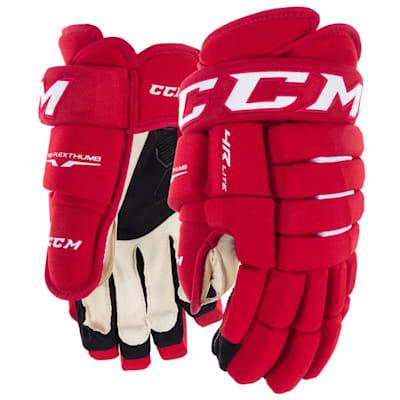 Red (CCM Tacks 4R Lite Hockey Gloves - Junior)