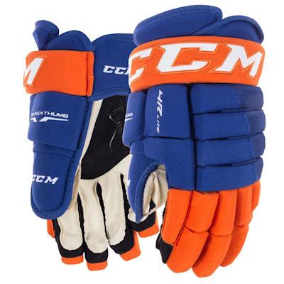 Royal/Orange (CCM Tacks 4R Lite Hockey Gloves - Junior)