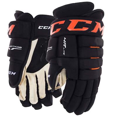Black/Orange (CCM Tacks 4R Lite Hockey Gloves - Senior)