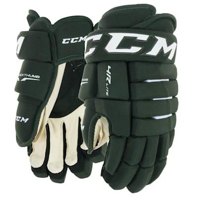 Dark Green (CCM Tacks 4R Lite Hockey Gloves - Senior)