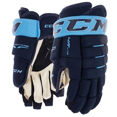 Navy/Carolina (CCM Tacks 4R Lite Hockey Gloves - Senior)