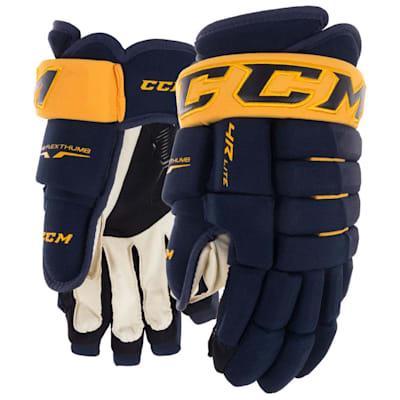 Navy/Gold (CCM Tacks 4R Lite Hockey Gloves - Senior)