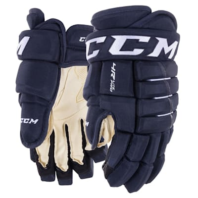 Navy (CCM Tacks 4R Lite Pro Hockey Gloves - Junior)