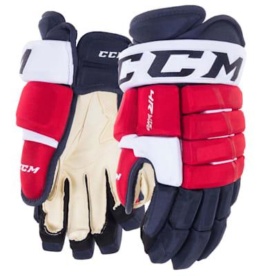 Navy/Red/White (CCM Tacks 4R Lite Pro Hockey Gloves - Senior)