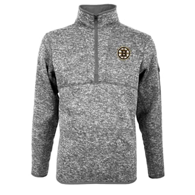 (Boston Bruins Fortune 1/4 Zip Grey - Adult)