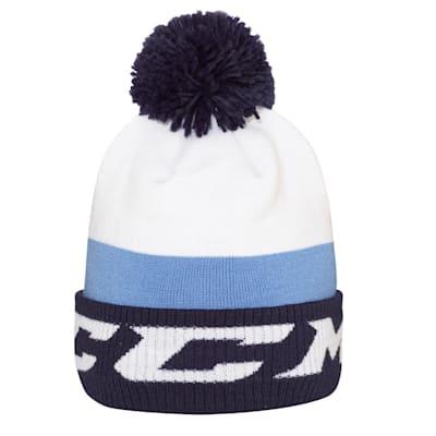 (CCM Chromatic Fleece Pom Knit Hat - Adult)