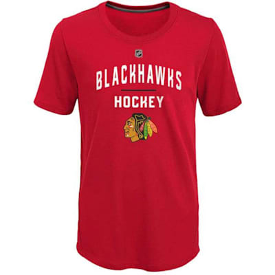 (Adidas Unassisted Goal Short Sleeve Tee - Chicago Blackhawks - Youth)