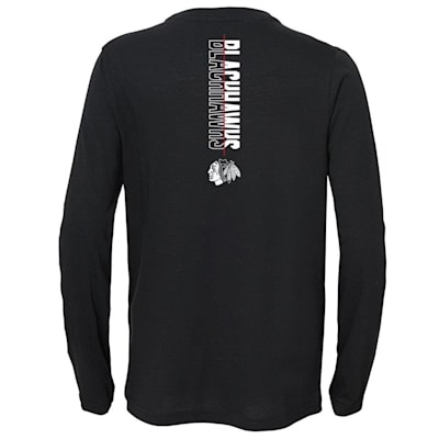 (Adidas Deliver A Hit Long Sleeve Tee - Chicago Blackhawks - Youth)