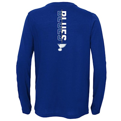 (Adidas Deliver A Hit Long Sleeve Tee - St. Louis Blues - Youth)