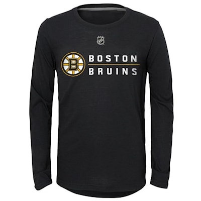 (Adidas Deliver A Hit Long Sleeve Tee - Boston Bruins - Youth)