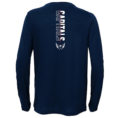 (Adidas Deliver A Hit Long Sleeve Tee - Washington Capitals - Youth)