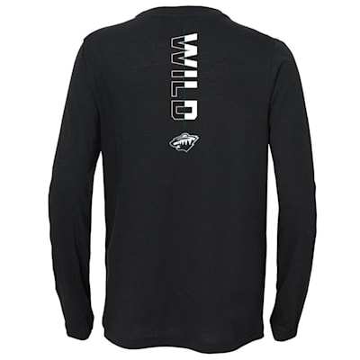 (Adidas Deliver A Hit Long Sleeve Tee - Minnesota Wild - Youth)