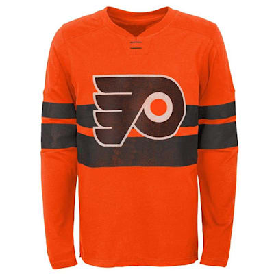 (Adidas Philadelphia Flyers Featured Classic Long Sleeve Tee - Youth)