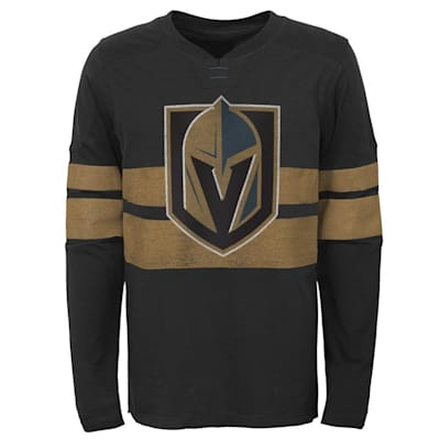 (Adidas Vegas Golden Knights Featured Classic Long Sleeve Tee - Youth)