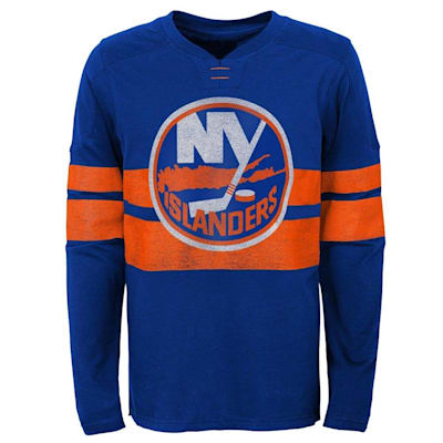 (Adidas New York Islanders Featured Classic Long Sleeve Tee - Youth)