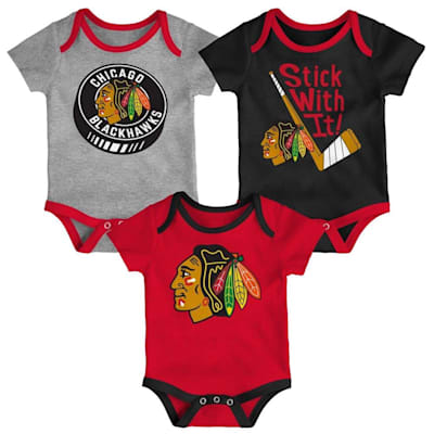 (Adidas Chicago Blackhawks Cuddle and Play 3-Pack Set - Newborn)