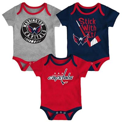 (Adidas Washington Capitals Cuddle and Play 3-Pack Set - Newborn)