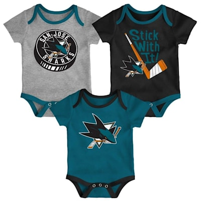 (Adidas SJ Sharks Cuddle and Play 3-Pack Set - Newborn)