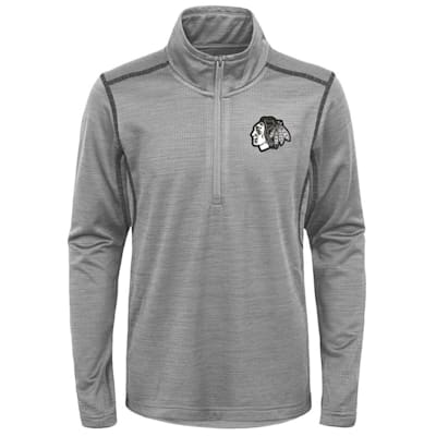 (Adidas Chicago Blackhawks Back to the Arena 1/4 Zip - Youth)