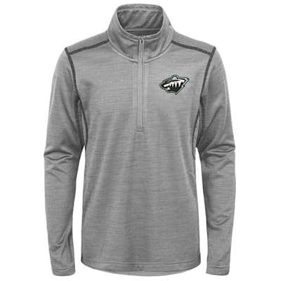 (Adidas Minnesota Wild Back to the Arena 1/4 Zip - Youth)