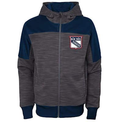 (Adidas New York Rangers Sleek Essentials Full Zip - Youth)