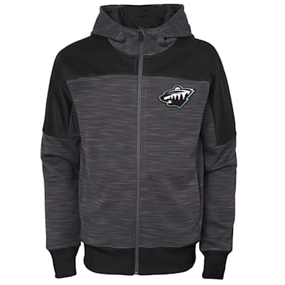 (Adidas Minnesota Wild Sleek Essentials Full Zip - Youth)