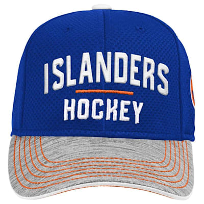 (Adidas New York Islanders Blueline Structured Adjustable Hat - Youth)