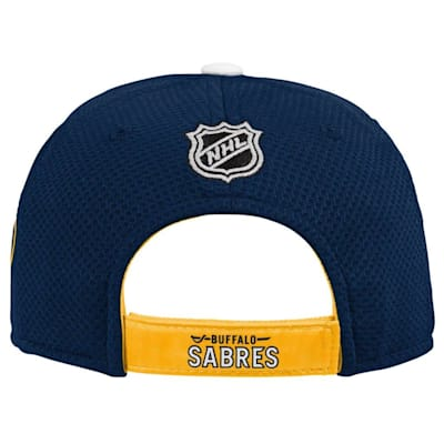 (Adidas Buffalo Sabres Blueline Structured Adjustable Hat - Youth)