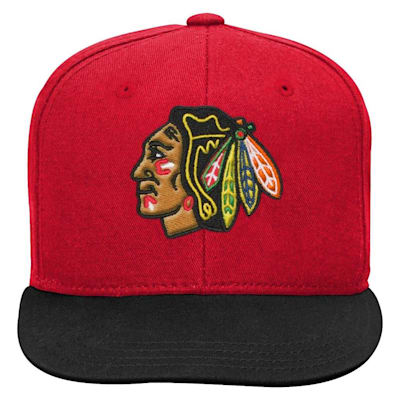 (Adidas 2 Tone Flat Brim Hat Chicago Blackhawks - Youth)