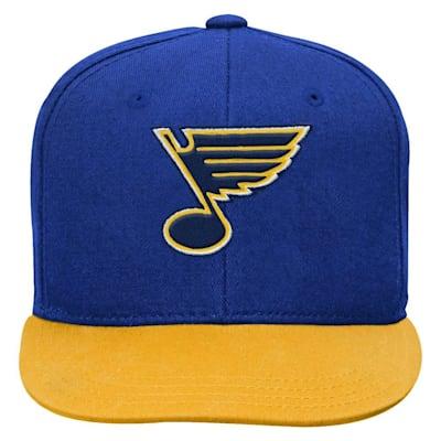 (Adidas 2 Tone Flat Brim Hat St. Louis Blues - Youth)